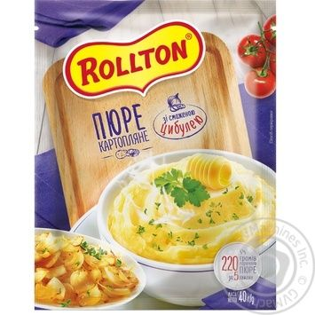 Rollton With Onion Instant Potato Puree 40g - buy, prices for MegaMarket - image 1