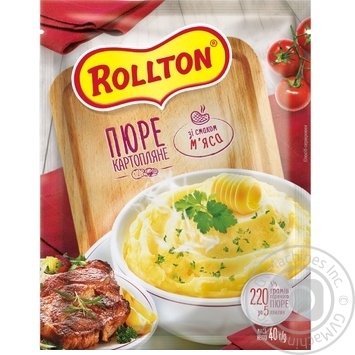 Rollton ready-to-cook with meat filling potato puree 40g - buy, prices for MegaMarket - image 1