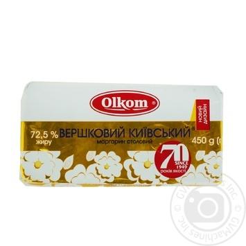 Маргарин Олком Сливочный Киевский 72.5% 450г - купить, цены на Ашан - фото 2