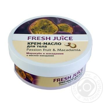 Fresh Juice Passion fruit and Macadamia Body Oil Cream 225ml