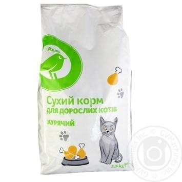 Сухой корм Каждый день для взрослых котов куриный 2.5кг - купить, цены на Ашан - фото 1