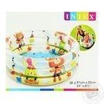 Бассейн Intex Пляжные друзья надувной детский 61*22см