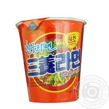 Samyang Spicy Instant Noodles 65g - buy, prices for Auchan - photo 1