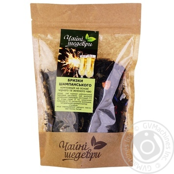 Композиция черного и зеленого чая Чайные шедевры Брызги шампанского - купить, цены на Ашан - фото 2