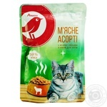 Auchan Meat feed assorted lamb and heart in jelly for cat 100g