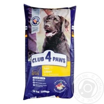 Корм Клуб 4 лапы Премиум Контроль веса для собак 14кг
