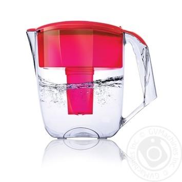 Фільтр-кувшин Наша Вода Максима червоний 5л - купити, ціни на МегаМаркет - фото 1