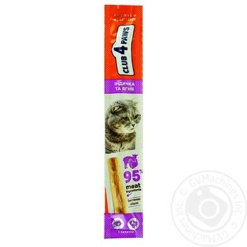 Delicacies Club 4 paws Meat Stick 5g salmon-cod m/y - buy, prices for Auchan - photo 3