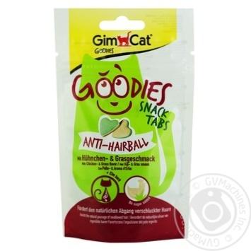 Снек GimCat Goodies Anti-hairball с курицей и травой для котов 40г