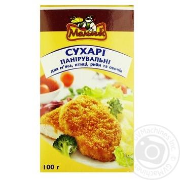 Сухари панировочные Мельник к мясу, птицы, рыбы и овощей 100г - купить, цены на Ашан - фото 1