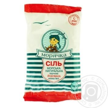 Соль Морячка морская йодированная 1кг - купить, цены на МегаМаркет - фото 1