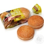 Kulinichi Bun for hamburger with sesame seeds 200g 4pcs.
