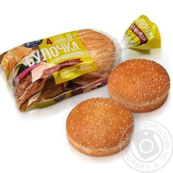 Булочка Кулиничи для гамбургера с семенами кунжута 200г 4шт. - купить, цены на Novus - фото 1