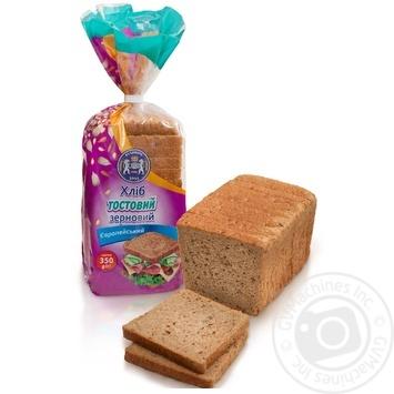 Хліб Кулиничі Європейський Тостовий зерновий 350г - купити, ціни на Фуршет - фото 1