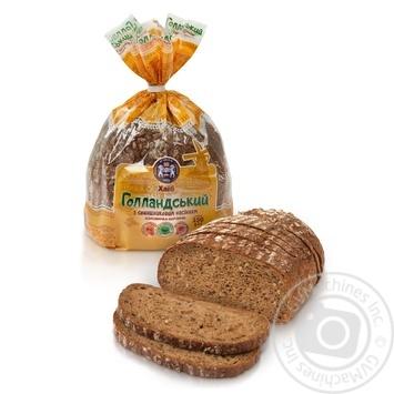 Kulinichi Dutch Bread with sunflower seeds half sliced 350g