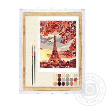 Картина по номерам Rosa Start Эйфелева башня 35*45см - купить, цены на Ашан - фото 1