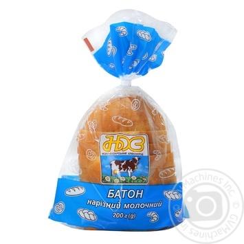Батон НБХЗ пшеничний молочний нарізаний 200г - buy, prices for Auchan - photo 1