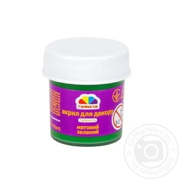 Acrylic paint for a decor opaque green 20ml - buy, prices for Auchan - photo 1