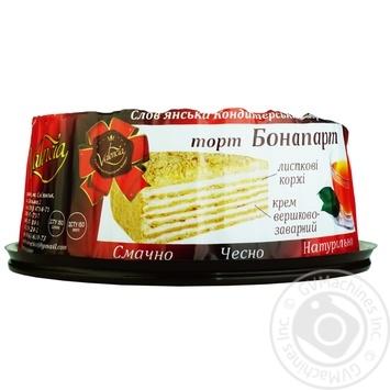Торт Valencia Бонапарт 1кг - купить, цены на Ашан - фото 1