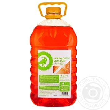 Мыло Ашан Грейпфрут жидкое для рук 4,5кг - купить, цены на Ашан - фото 1
