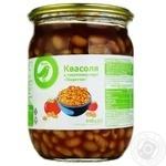 Квасоля Ашан Пікантна в томатному соусі 540г