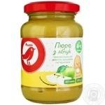 Пюре Ашан из яблок для детей с 4 месяцев 200г