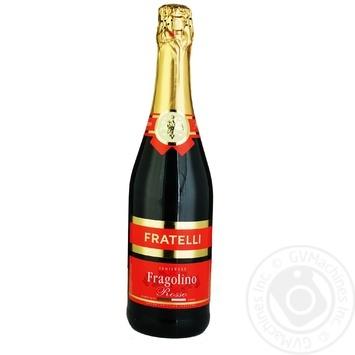 Вино игристое Fratelli Fragolino Rosso красное полусладкое 6-6,9% 0,75л