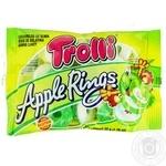 Конфеты Trolli Яблочные кольца фруктовые жевательные 50г