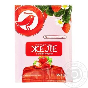 Желе Ашан зі смаком полуниці 90г - купити, ціни на Ашан - фото 1