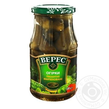 Veres Pikantni Pickled Cucumbers 500g - buy, prices for CityMarket - photo 3
