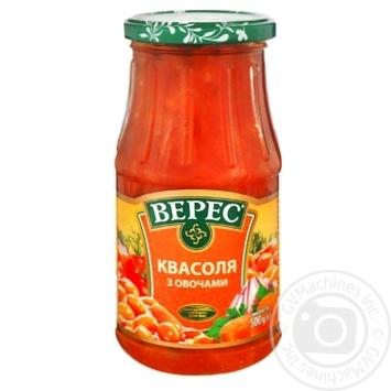 Квасоля Верес з овочами 530г - купити, ціни на МегаМаркет - фото 1