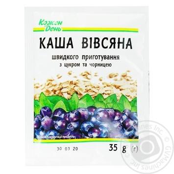 Каша овсяная Каждый день с сахаром и черникой 35г - купить, цены на Ашан - фото 1