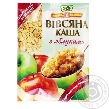 Каша Эко Большая ложка овсяная с яблоками со сливками 41г