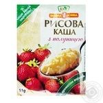 Eko Velyka Lozhka Rice Porridge with Strawberry and Cream 41g