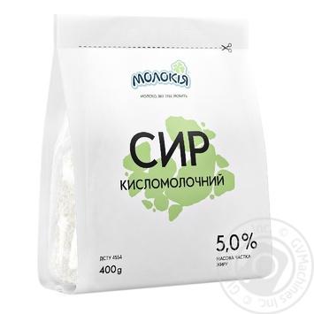 Творог Молокія 5% 400г - купить, цены на Фуршет - фото 1