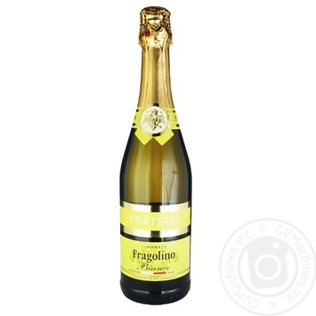 Вино игристое Fratelli Fragolino Bianco белое полусладкое 6-6,9% 0,75л - купить, цены на Ашан - фото 1