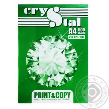 Бумага офисная Crystal A4 - купить, цены на Novus - фото 1