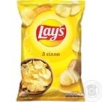 Чипсы Lay's с солью 133г - купить, цены на МегаМаркет - фото 1