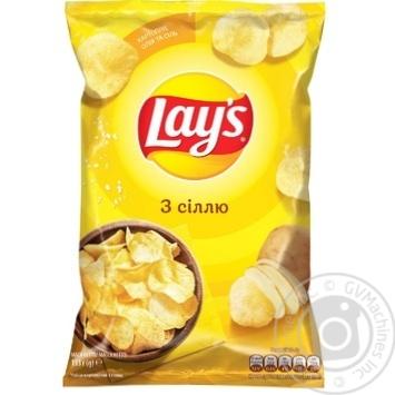 Чипси Lay's з сіллю 133г - купити, ціни на МегаМаркет - фото 1