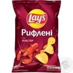 Чіпси картопляні Lay's зі смаком лобстера рифлені 133г
