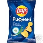 Lay's Ridged Sour cream & Onion Flavored Potato Chips 133g