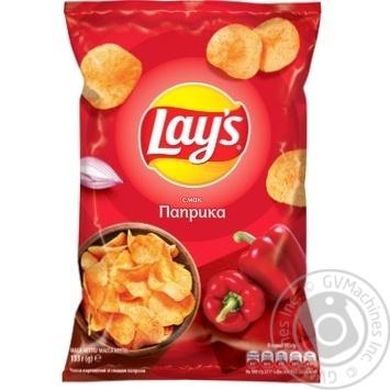 Чипсы Lay's со вкусом паприки 133г - купить, цены на Метро - фото 1
