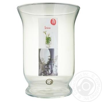 Transparent Glass Vase 20cm