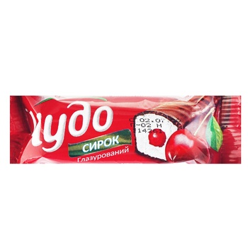 Cottage cheese Chudo cherry in chocolate glaze 15% 36g - buy, prices for Furshet - image 1