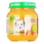 Пюре Гербер яблоко и персик без крахмала и сахара для детей с 5 месяцев 130г - купить, цены на Фуршет - фото 6