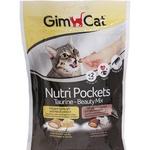 Лакомство для кошек GimCat Nutri Pockets Taurine-Beauty Mix ассорти 60г