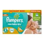 Подгузники Pampers Active Baby Размер 2 (4-8 кг) 144 шт