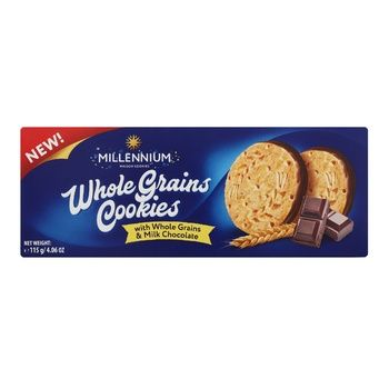 Millennium wholemeal cookies with milk chocolate 115g