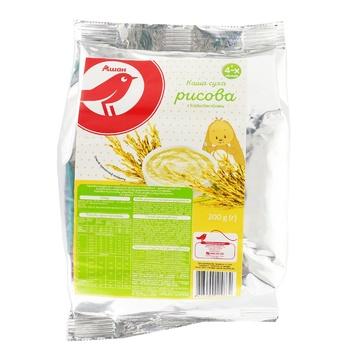 Каша рисовая Ашан сухая для детей с 4 месяцев 200г - купить, цены на Ашан - фото 1