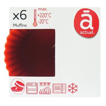 Формы Actuel силиконовые для выпечки 6шт - купить, цены на Ашан - фото 1